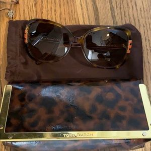 Tory Burch Brown Gradient Sunglasses